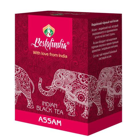 Чай ASSAM черный индийский листовой100г Bestofindia