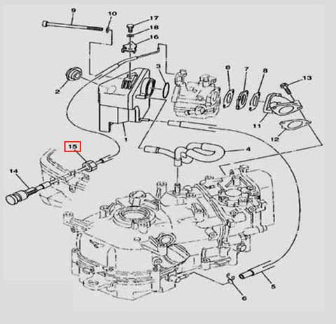 Гайка для лодочного мотора F5 Sea-PRO(6-15)