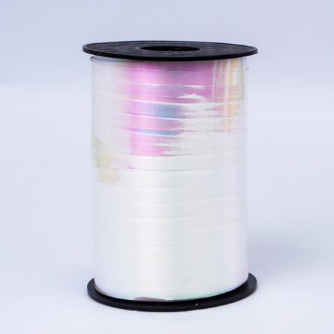 Лента полипропиленовая Северное сияние белый, 0,5см*250м
