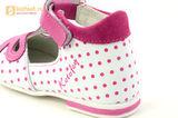 Детские туфли Котофей 232059-22 из натуральной кожи, для девочки, бело-розовые. Изображение 14 из 16.