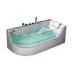 Акриловая ванна Frank F105 L 170х80 с гидромассажем угловая