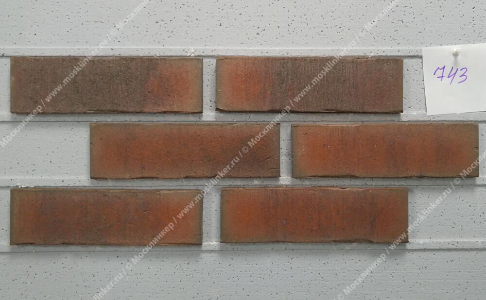 Feldhaus Klinker - R743NF14, Vascu Carmesi Flores, 240x14x71 - Клинкерная плитка для фасада и внутренней отделки