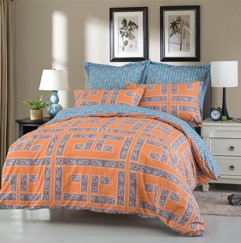 Сатиновое постельное бельё  2 спальное  В-178