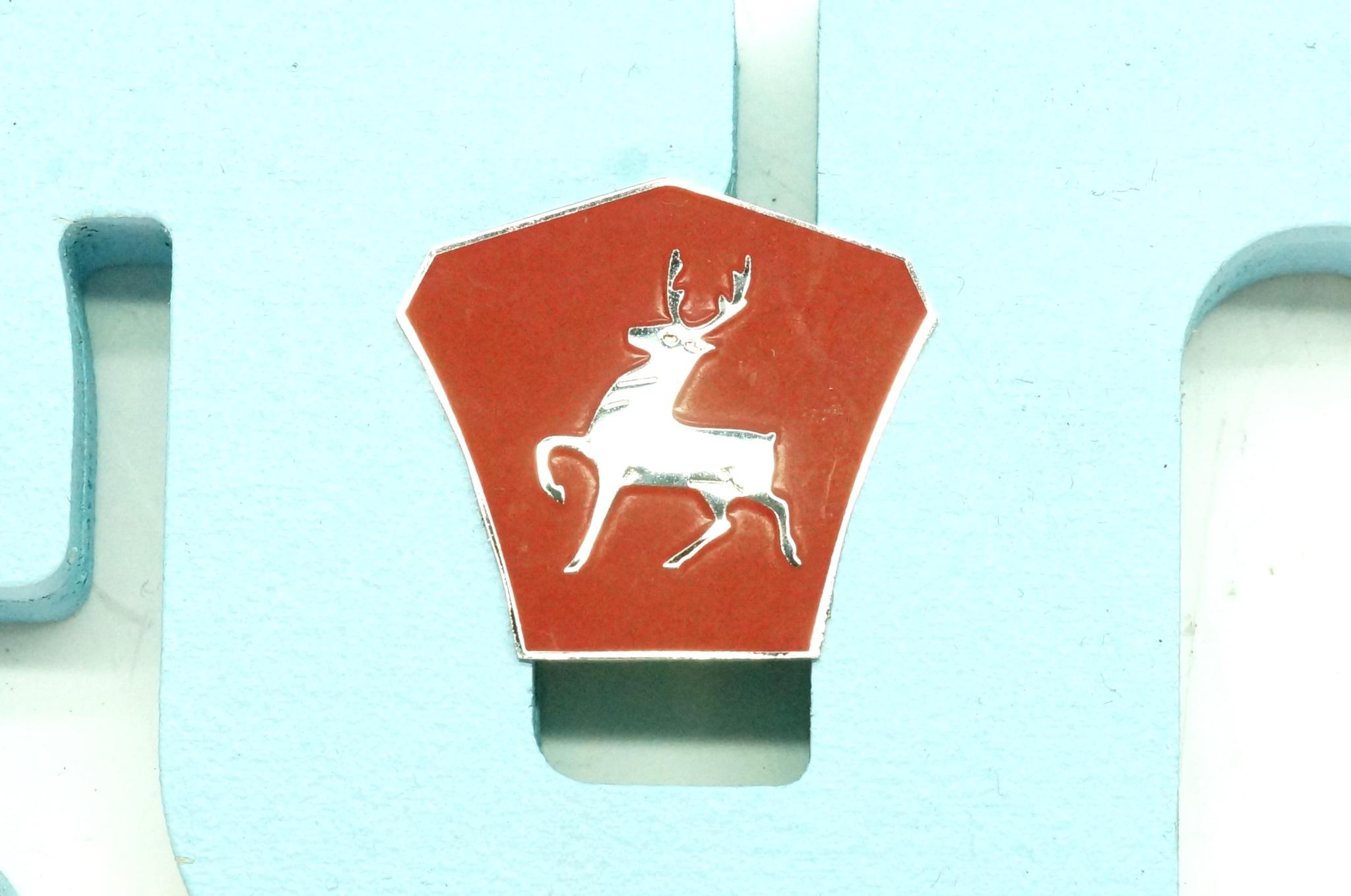 Значок эмблема птички капота ГАЗ 21 1, 2 серия
