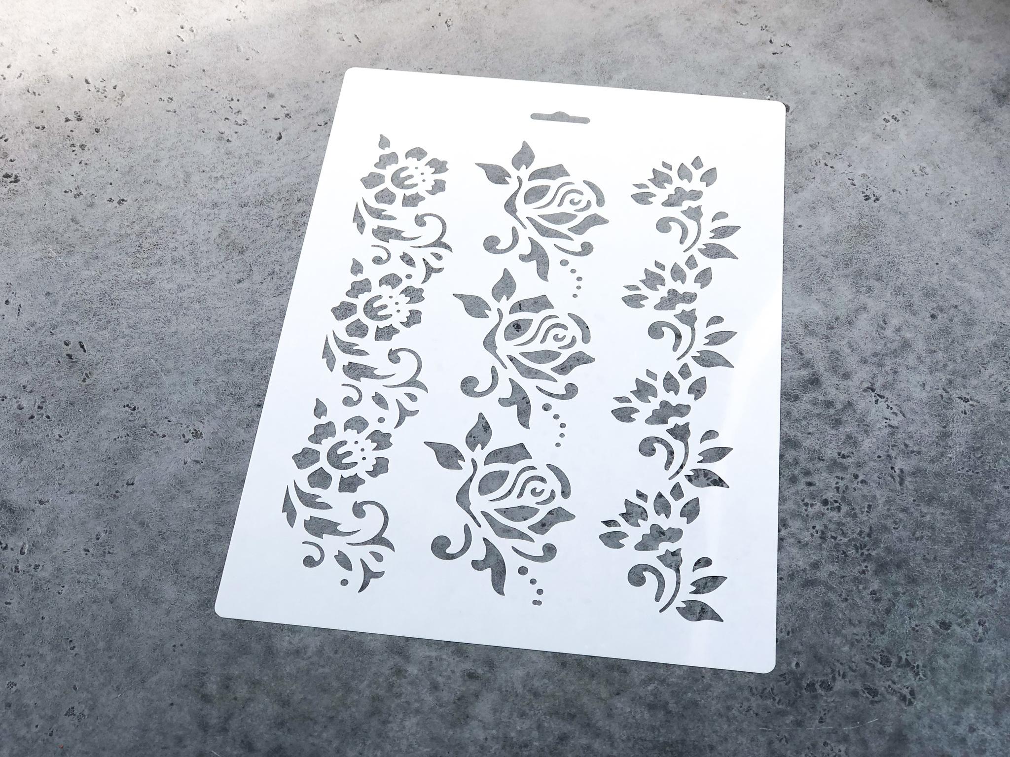 Трафарет «Цветы», 21×31 см