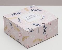 Коробка складная «Новогодних чудес», 15 × 15 × 7 см, 1 шт.