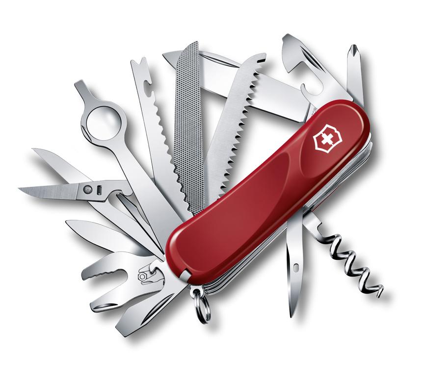 Нож Victorinox Evolution 28, 85 мм, 23 функции, красный