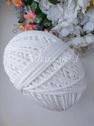 Белый Полиэфирный шнур 5 мм