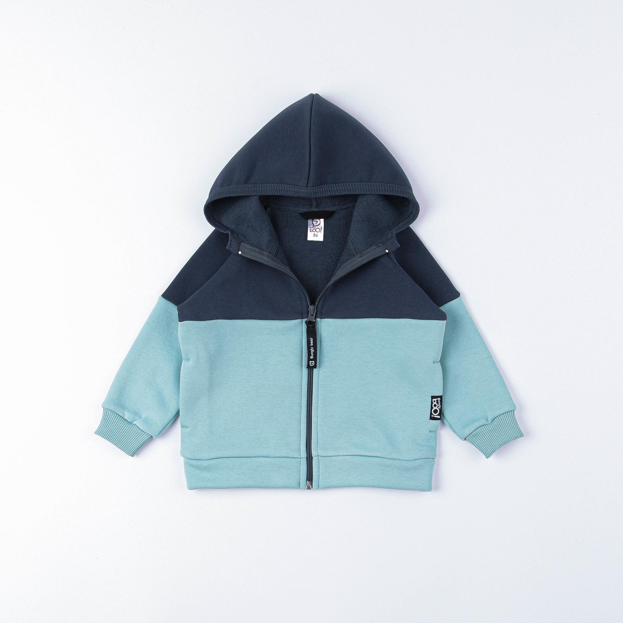 Color block warm sweatshirt - Graphite/Sea Blue