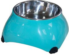 Миска меламиновая для собак высокая  160 мл аквамарин, SuperDesign