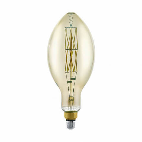 Лампа LED филаментная диммир. дымчатого цвета Eglo BIG SIZE LM-LED-E27 8W 600Lm 3000K E140 11843