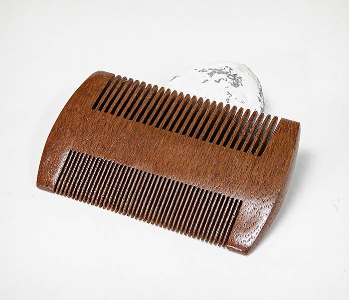 CARE152-2 Двухсторонний гребень для бороды из дерева фото 03