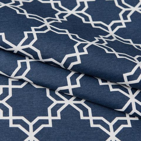Римская штора из хлопка Тренд синий