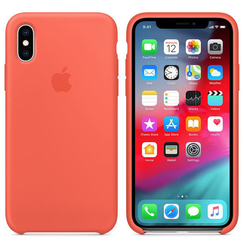 iPhone XS Max Silicone Case Nectarine