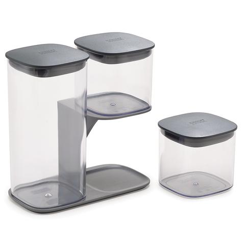 Набор из 3-х емкостей для хранения Podium серый