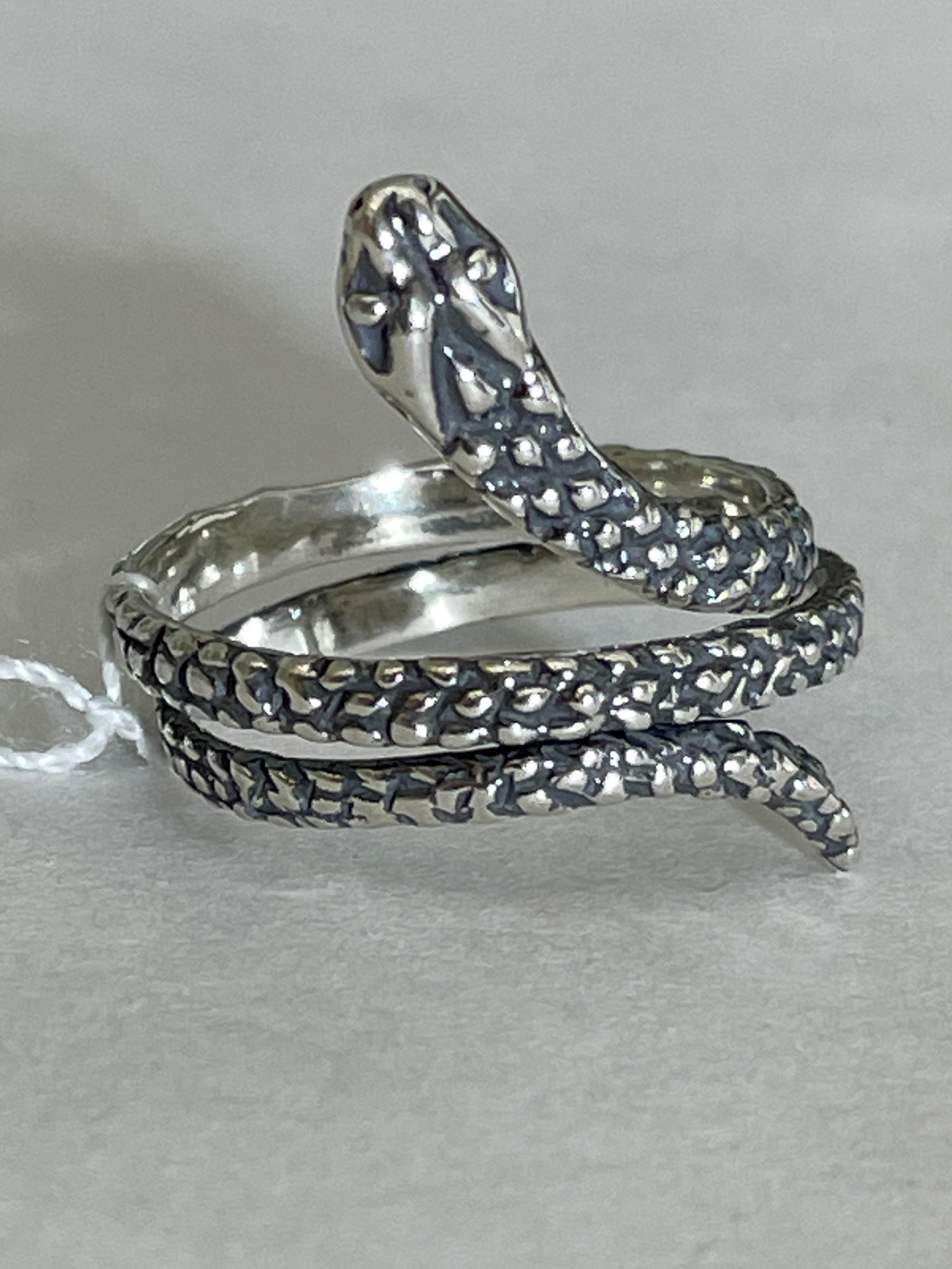 Змейка (кольцо из серебра)