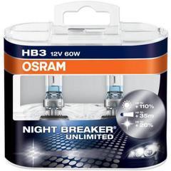 Лампа Osram HB3 Night Breaker Unlimited (2шт) DuoBox 12v-55w