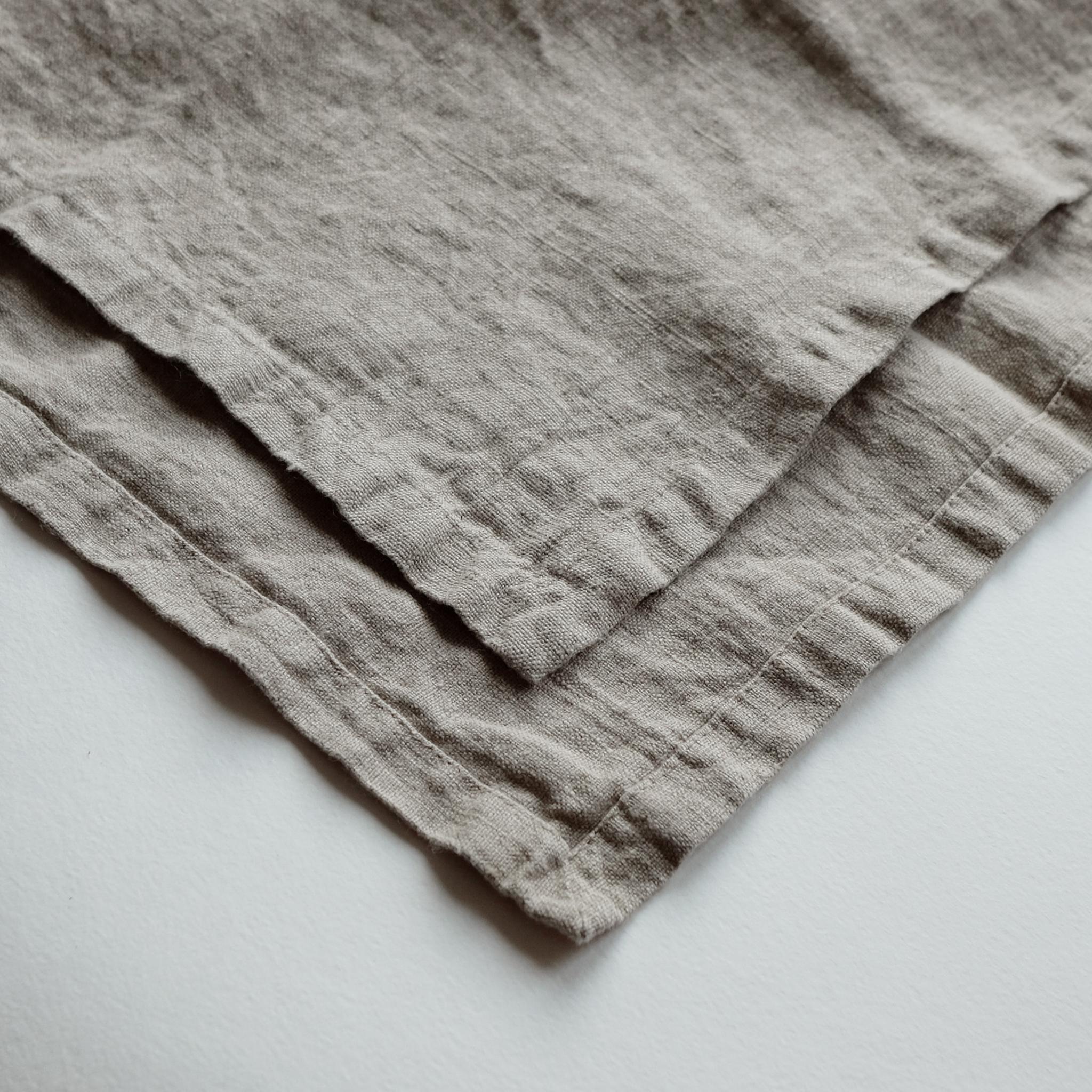 салфетка из умягченного льна натуральная