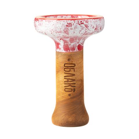 Чашка Облако Black Glaze Top Красный Мрамор