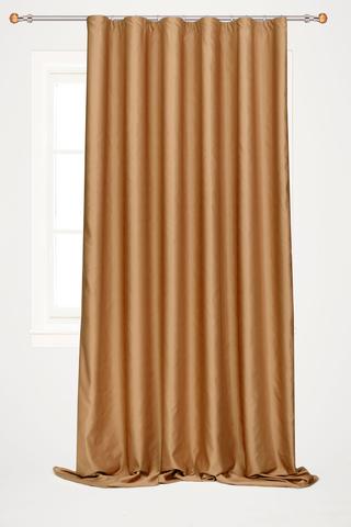 Готовая штора креп Дениз коричневый