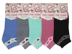 B979 носки женские 37-41 (12шт.), цветные