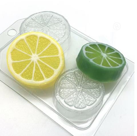 Пластиковая форма для шоколада  дет. ЦИТРУС МИНИ (разрез лимона, апельсина) Диаметр 60мм, 50мм.