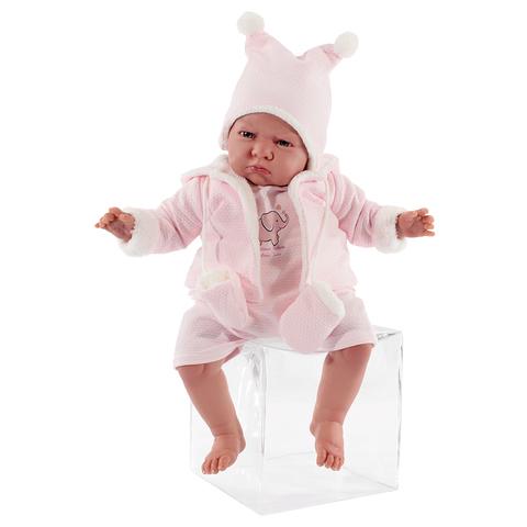 Munecas Antonio Juan Кукла Реборн младенец Салюд в розовом 52см (8158P)