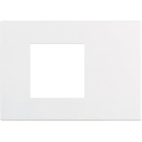 Рамка 1 пост AIR, прямоугольная форма. СОФТ. Цвет Матовый белый. Немецкий/Итальянский стандарт, 2 модуля. Bticino AXOLUTE. HW4819AW