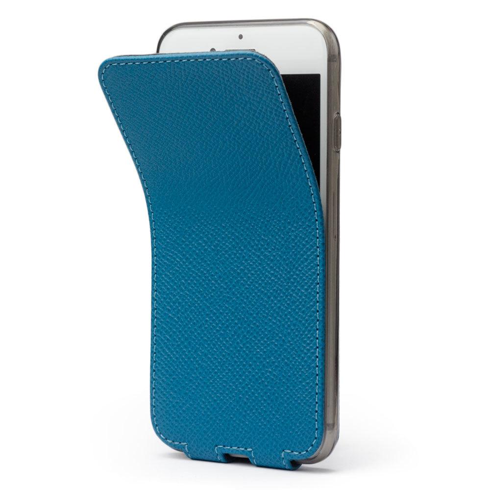 Чехол для iPhone 7 Plus из натуральной кожи теленка, морского цвета