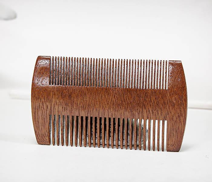 CARE152-2 Двухсторонний гребень для бороды из дерева фото 04