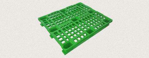 Поддон пластиковый перфорированный 1200x1000x160 мм с полозьями, усиленный металлическим профилем. Цвет: Зеленый