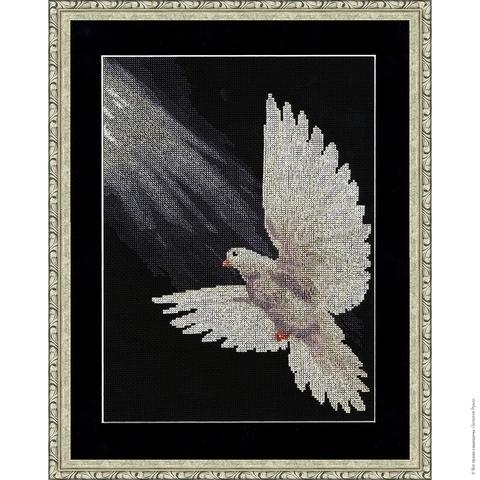 Размер: 30,9×22,2 см;¶Канва: Аида черная 14;¶Вышивается крестом в 2 нити;¶Количество цветов: 16;