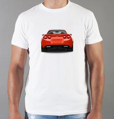Футболка с принтом Шевроле, Камаро (Chevrolet, Camaro) белая 0011