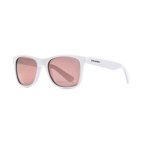 Очки Horsefeathers Foster Sunglasses Gloss White/Mirror Rose