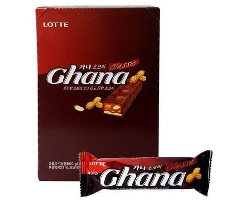 Шоколадный баточик Lotte Ghana с орехом 50 гр