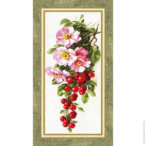 Размер: 46,5×21,7 см;¶Канва: Аида белая 16;¶Вышивается крестом в 2 нити;¶Количество цветов: 40;