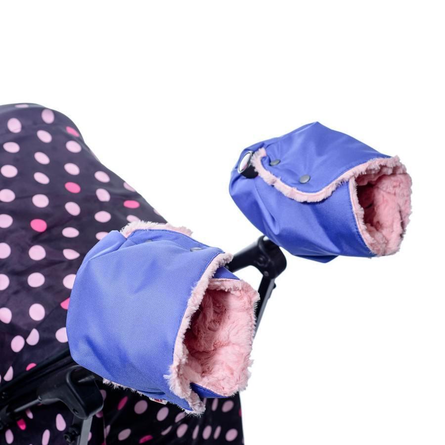 Зимние товары Муфта для коляски раздельная Farla Hands сиреневая с розовым мехом 2015-10-22_15-23-53-PhTA_tn.jpg
