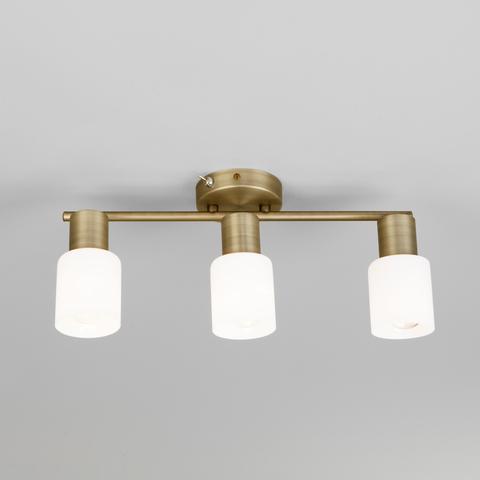 Настенный светильник с поворотными плафонами 20089/3 бронза
