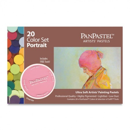 Набор ультрамягкой пастели PanPastel 20 цветов (Portait color set)