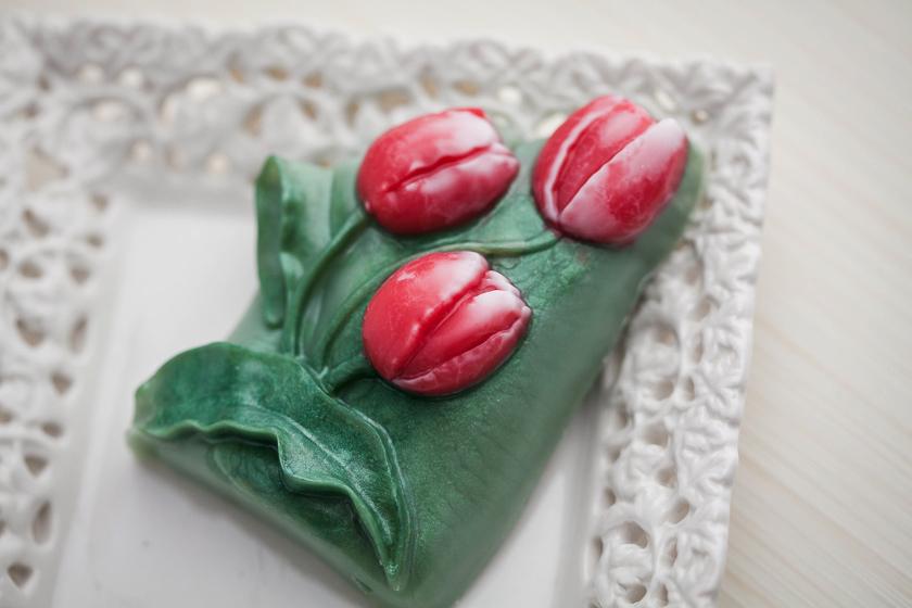 Мыло ручной работы Тюльпаны. Пластиковая форма