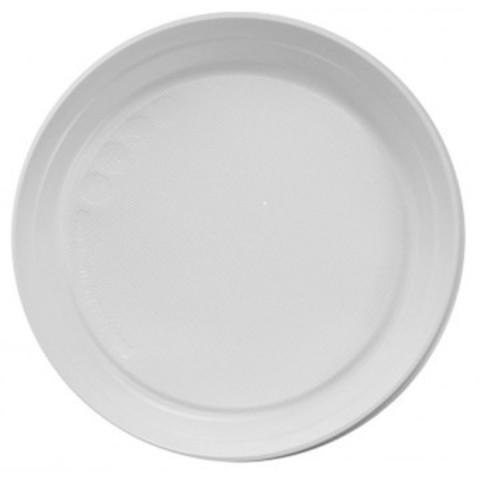 Тарелка одноразовая d 220мм, ПП, белая 100шт./уп.