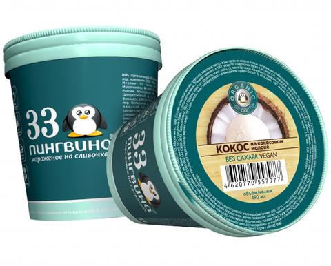 33 пингвина Organicbar Кокос на кокосовом молоке 490 мл