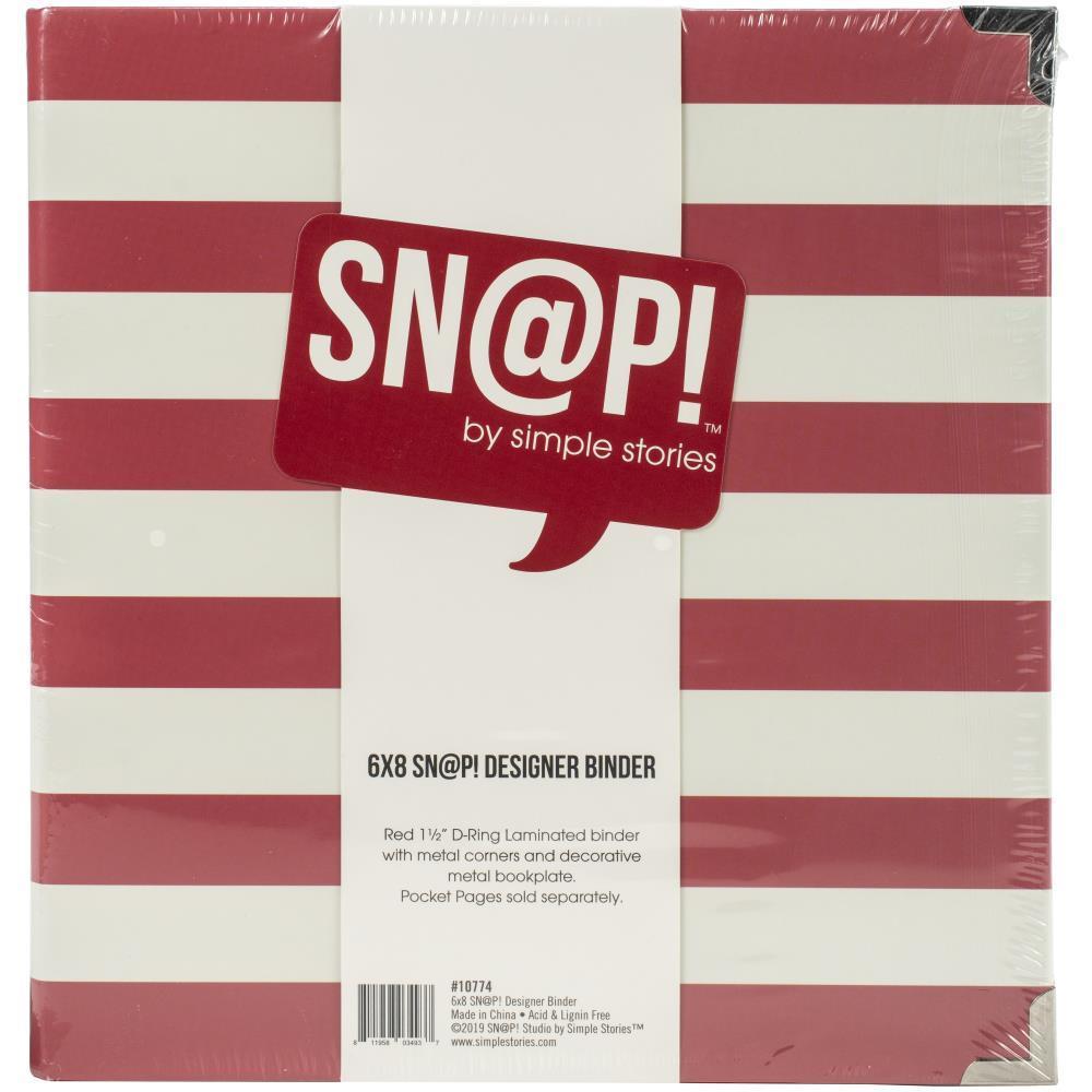 Альбом на кольцах для Life Project 15x20 см -Simple Stories Sn@p! Designer Binder - Red Stripe