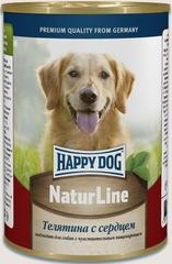 Консервы для собак Happy Dog NaturLine, телятина с сердцем
