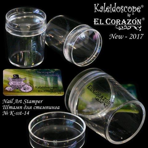 EL Corazon Прозрачный штамп и скрапер №ksst-14 (прозрачный)