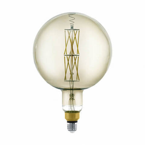 Лампа LED филаментная диммир. дымчатого цвета Eglo BIG SIZE LM-LED-E27 8W 600Lm 3000K G200 11845
