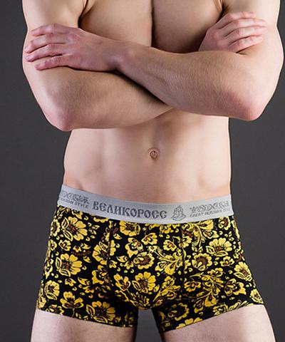 """Men's trunks VELIKOROSS """"Bright yellow ornament"""""""