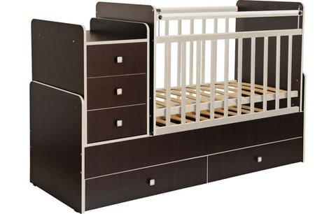 Кроватка детская Фея 1100 венге кромка бежевый