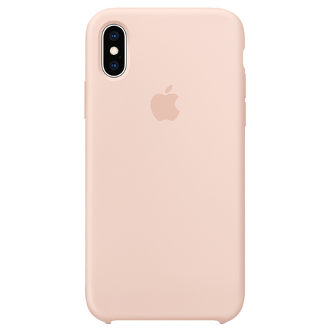 iPhone XS Max Silicone Case Pink Sand