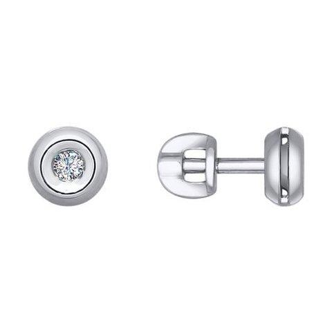 1021056 - Серьги из белого золота c бриллиантами